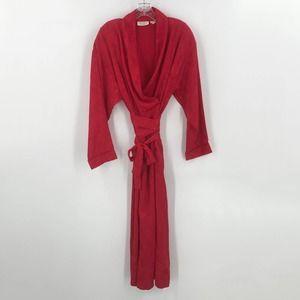 Victoria's Secret Vintage Long Robe Red Gold Label